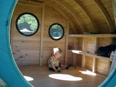 Hobbit Hole playhouses, chicken coops, doghouses, more! - Wooden Wonders' Hobbit Holes Bring the Magic of Middle-earth to Your Yard Backyard Playhouse, Build A Playhouse, Outdoor Playhouses, Hobbit Playhouse, Backyard Playground, Hobbit Hole, The Hobbit, Dog Houses, Play Houses