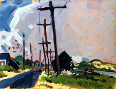 Charles Sovek, Artist and Author | Favorites - Acrylic Paintings  Route 6 and 6a