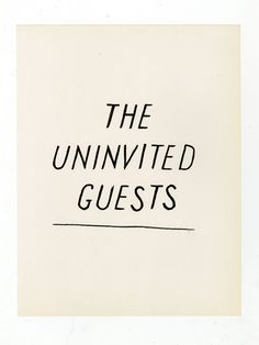 Lettering used for book jacket Uninvited ink on paper, 8.5 x 11