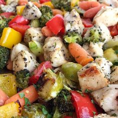 Sheet Pan Baked Chicken and Vegetables. Sheet Pan Baked Chicken and Vegetables Recipes Baked chicken and vegetables roast in the oven on one sheet pan! Healthy, full of . Chicken And Vegetable Bake, Vegetable Recipes, Veggie Bake, Baked Vegetables, Chicken And Vegetables, Veggies, Healthy Snacks, Healthy Recipes, Healthy Dinners