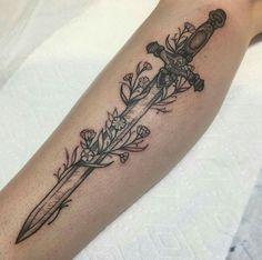 """39 Gorgeous Harry Potter Tattoos That Will Make You Say """"I Want That"""" Sleeve Ta. - 39 Gorgeous Harry Potter Tattoos That Will Make You Say """"I Want That"""" Sleeve Tattoo Design - Tattoos Skull, Body Art Tattoos, Small Tattoos, Tattoos For Guys, Sword Tattoos For Women, Fox Tattoo, Tiny Tattoo, Tatoos, Ocean Tattoos"""