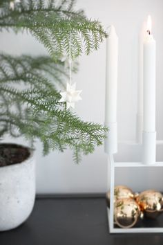 Simple Swedish Christmas decorating inspiration