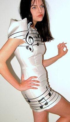 Sheet Music costume. hahahahaha probably not.