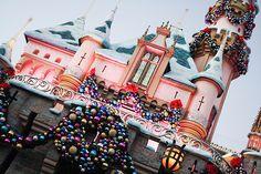 Sleeping Beauty's Castle at Christmas