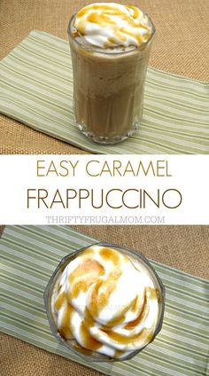 Make your own caramel frappe with this delicious, easy recipe. Not only will it save you money, it's also a great way to use up leftover coffee (if you ever have any- we don't!) #MrCoffee #Frappe #Recipes