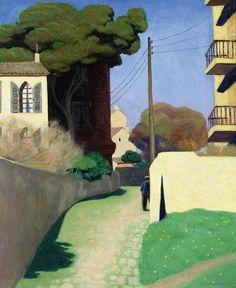 VALLOTTON, FELIX  Chemin au Mourillon. 1925. Öl auf Leinwand. http://www.kollerauktionen.ch/en/resultate/toplots.asp