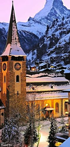 Zermaat Church, Switzerland