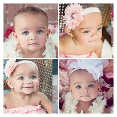 Gorgeous baby girl with amazing blue eyes ~ Addison Rose ~ Beautiful biracial baby girl