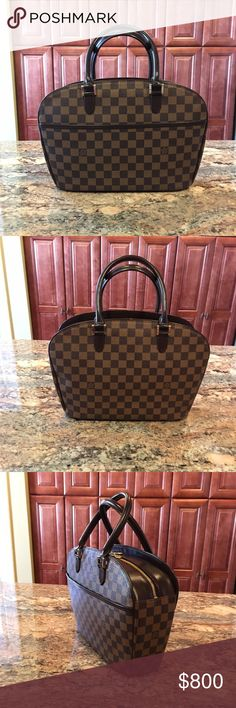 Authentic Louis Vuitton Damier Ebene Sarria Authentic Louis Vuitton Damier Ebene Sarria. Sign of use such as small nicks on leather. Comes with: bag only Louis Vuitton Bags Satchels