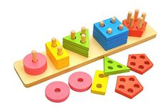 MochoHome Wooden Geometric Shape Sorting Puzzle Board ** Check this awesome product by going to the link at the image. (This is an affiliate link)