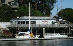 Aldo's Restaurant, Santa Cruz.  Terrific calamari and fish tacos. You may have seen this place on Diners, Drive ins, and Dives on the food network. 616 Atlantic Avenue  Santa Cruz, CA 95062 (831) 426-3736