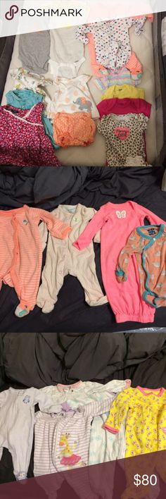 Babygirl Newborn Lot 26 pieces all for this price. Some NWT. Brands: Gerber, Koala Baby, First Impressions, Carter's. Open to reasonable offers! Have plenty more clothes to post in nb, 0-3, 3-6. My daughter is growing fast! Smoke free/pet free home Matching Sets