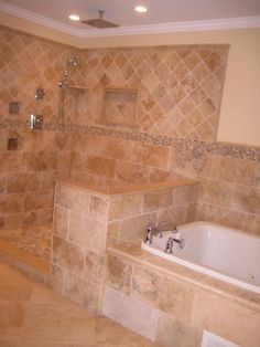 Bathroom Glassless Shower Design, Pictures, Remodel, Decor and Ideas