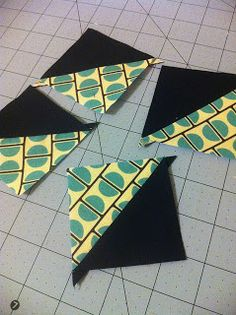That girl... That quilt: Half Square Triangles Tutorial {3 ways}