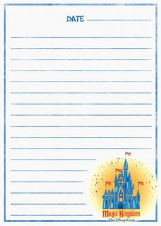 Magic Kingdom Journal Page Disney 2015, Disney Diy, Disney Crafts, Disney Scrapbook, Travel Scrapbook, Scrapbook Pages, Project Life Album, Project Life Cards, Walt Disney World Vacations