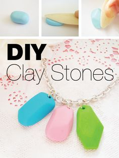 How to create clay stones for necklaces and charm bracelets - this site has MANY more interesting clay/porcelain ideas!