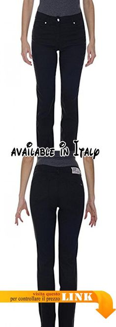 B07896579N : JEANS&POLO 67465/N JEANS PUSH-UP TENCEL STRETCH T.C. (44 IT DONNA NERO). Made in Italy. Lavaggio a 30
