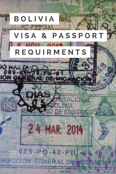 A guide to visa and entry requirements for Bolivia http://www.bolivianlife.com/understanding-entry-requirements-bolivia/