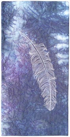 Thread painted feather by Susan Brubaker Knapp