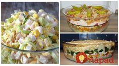Perfektné inšpirácie na rýchle a veľmi chutné šaláty, ktoré zasýtia a vyzerajú úžasne. Výborné aj ako pohostenie pre návštevy. Dessert Recipes, Desserts, Feta, Potato Salad, Healthy Recipes, Healthy Food, Food And Drink, Potatoes, Ethnic Recipes