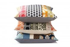 Patchwork style pillows, Each case is unique and one of a kind - Kailey Hawthorn