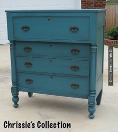 So good - Peacock Blue chest by Chrissie's Collection | CHECK OUT MORE DRESSER…