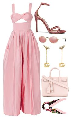 """""""Untitled #164"""" by alexiajenni ❤ liked on Polyvore featuring Rosie Assoulin, Aquazzura, Gucci, Dolce&Gabbana, Yves Saint Laurent and CoffeeDate"""