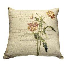 Wine Carnation Collection Cushion   Dunelm