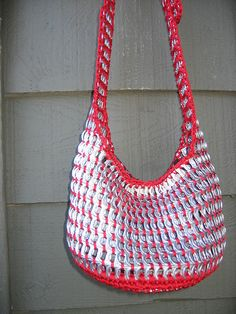Red Pull Tab Tote