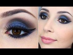maquiagem sombra azul fácil de fazer