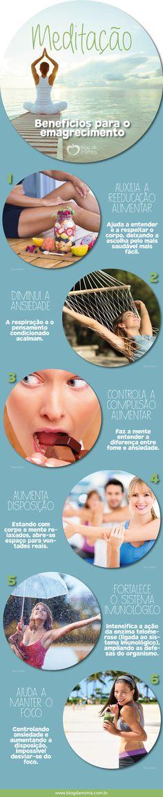 Meditação para emagrecer: benefícios e prática - Blog da Mimis #blogdamimis #meditação #emagrecer #infográfico
