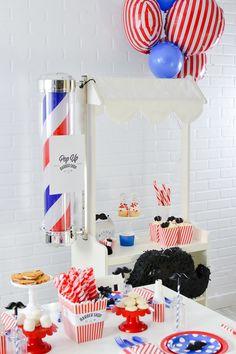 Kara's Party Ideas Pop Up Barbershop Birthday Party- FREE Printables! | Kara's Party Ideas