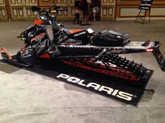 This is the sled I ordered will be here in October Can't wait! Polaris Off Road, Snow Toys, Polaris Industries, Snow And Rock, Motorcross Bike, Strange Cars, Polaris Snowmobile, Snow Machine, Snow Fun