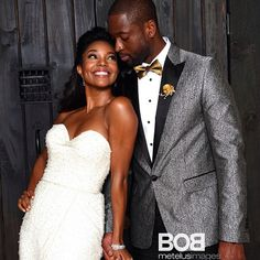 gabrielle union and dwyane wade are married | wedding, august 2014, Wedding invitations