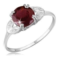 $19.99 - 2 Carat Garnet and Diamond Accents Ring in Sterling Silver