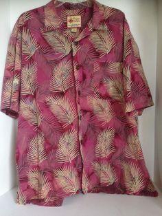 aae1cc34 Paradise on a Hanger XL Short Sleeve Floral Hawaiian Shirt made in Hawaii… Mens  Hawaiian