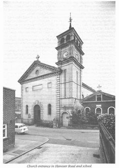 The old St Augustine's Church in the 1960s. Demolished in 1970 and Tesco now sits on this site.