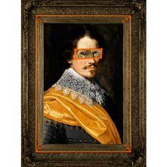 Lord Lion Canvas Print - Portrait - Eccentric Abstract Wall Art - Orange