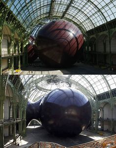 leviathan, by anish kapoor, at grand palais in paris, for monumenta 2011 #art #sculpture #installation #anishkapoor #leviathan #monumenta