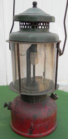 Rare 1930's Coleman United States Forest Service USFS Quick Lite Lantern #Coleman