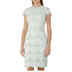 Buy Reiss Liza Mixed Lace Dress Online at johnlewis.com