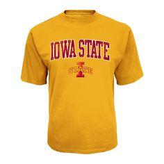 NCAA Iowa State Cyclones Men's Distressed Logo Performance T-Shirt - Xxl, Multicolored