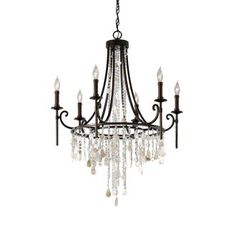 View the Feiss F2660/6 Cascade Six Light 1 Tier Chandelier at Build.com.