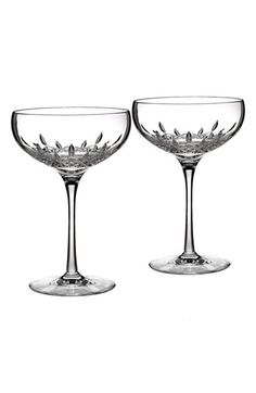 Waterford 'Lismore Essence' Lead Crystal Champagne Saucers (Set of 2)