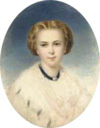 Blond portrait, interestig