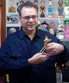 (Rankin / Bass)  | Kevin Kreiss with the original Rankin/Bass Rudolph puppet!