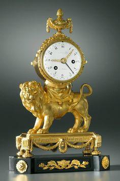 François Vion (b. circa 1737 d. Antique Watches, Antique Clocks, Vintage Watches, Louis Xvi, Clock Art, Desk Clock, Bronze, French Clock, Classic Clocks