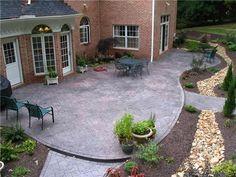 Cement Ideas For Backyard concrete patio Charcoal Victorian Red Concrete Patios Hudecek Cement Inc North Royalton Oh Patio Ideaslandscaping Ideasbackyard