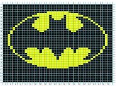 Batman Logo Knitting Chart by lystessa, via Flickr.  Bet you can't guess who this is for.