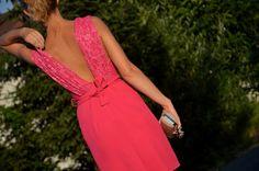 Piękna różowa sukienka handmade na sprzedaż ~ Haligashka